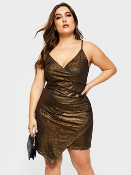 Ericdress Plus Size Above Knee Sleeveless Pullover Bodycon Dress
