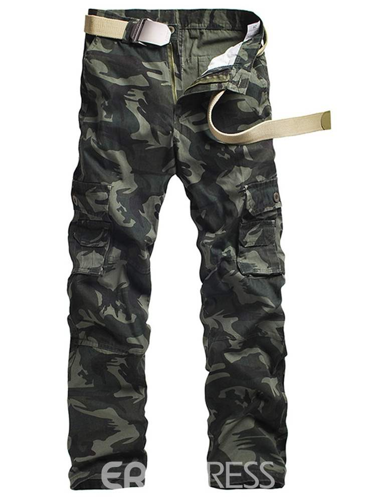 Ericdress Camouflage Pocket Mens Casual Pants