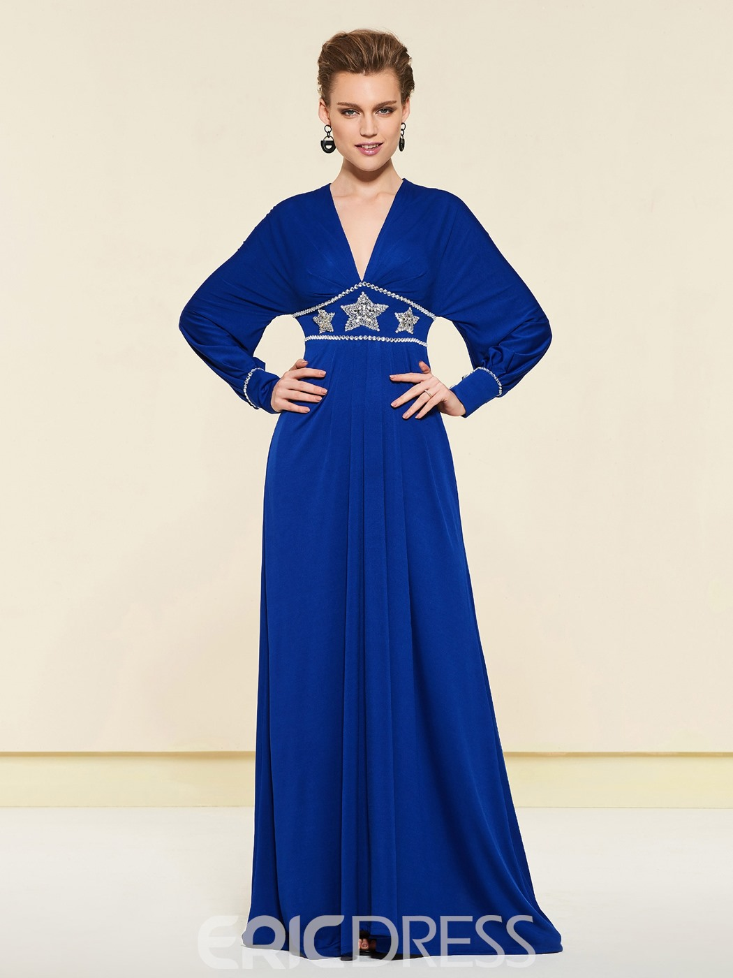 Ericdress Beading Long Sleeves Mother of the Bride Dress