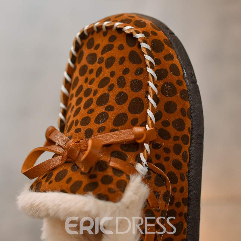 Ericdress Leopard Print Round Toe Baby Winter Shoes
