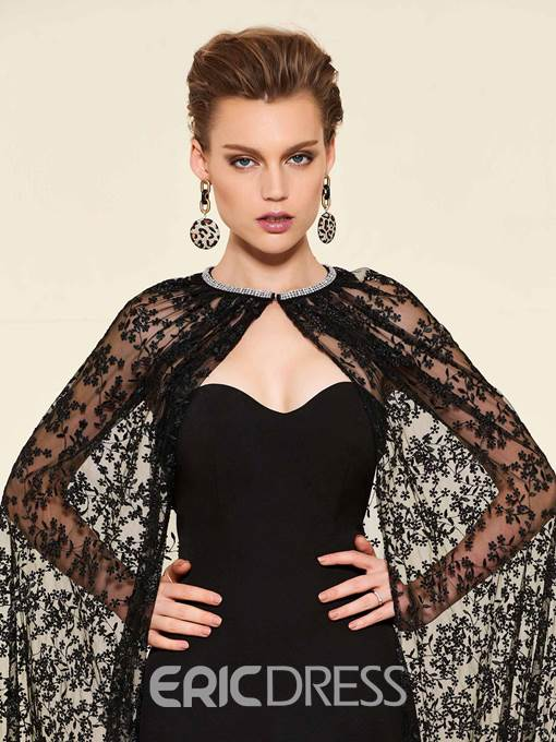Ericdress Mermaid Lace Mother of the Bride Dress with Cape