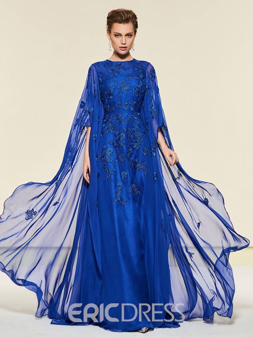 Ericdress Appliques Button Sleeves Mother of the Bride Dress