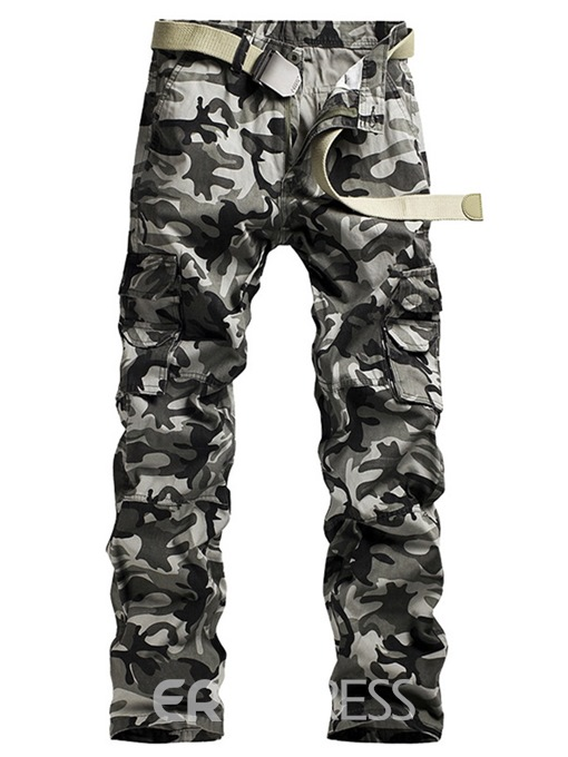 Ericdress Camouflage Print Side Pocket Mens Casual Pants