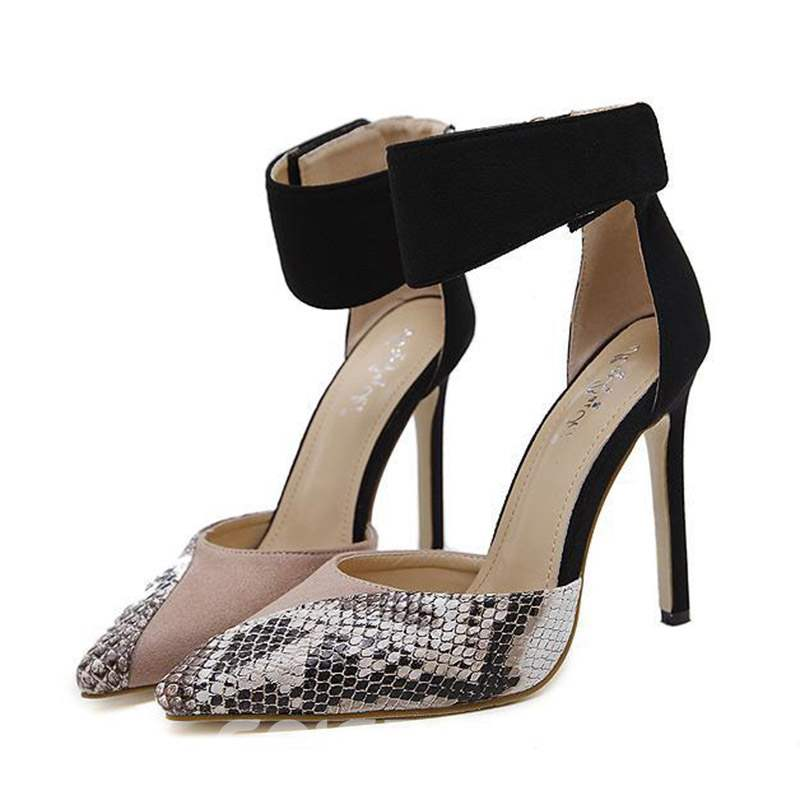 Ericdress Serpentine Pointed Toe Velcro Women's Pumps
