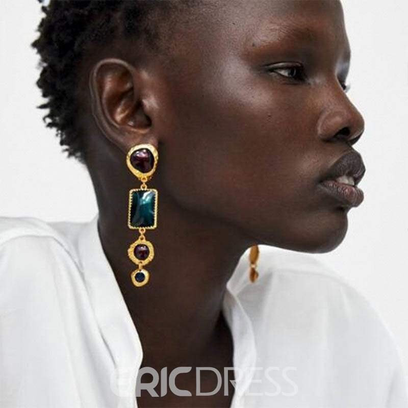 Ericdress Vintage Gems Gift Earrings
