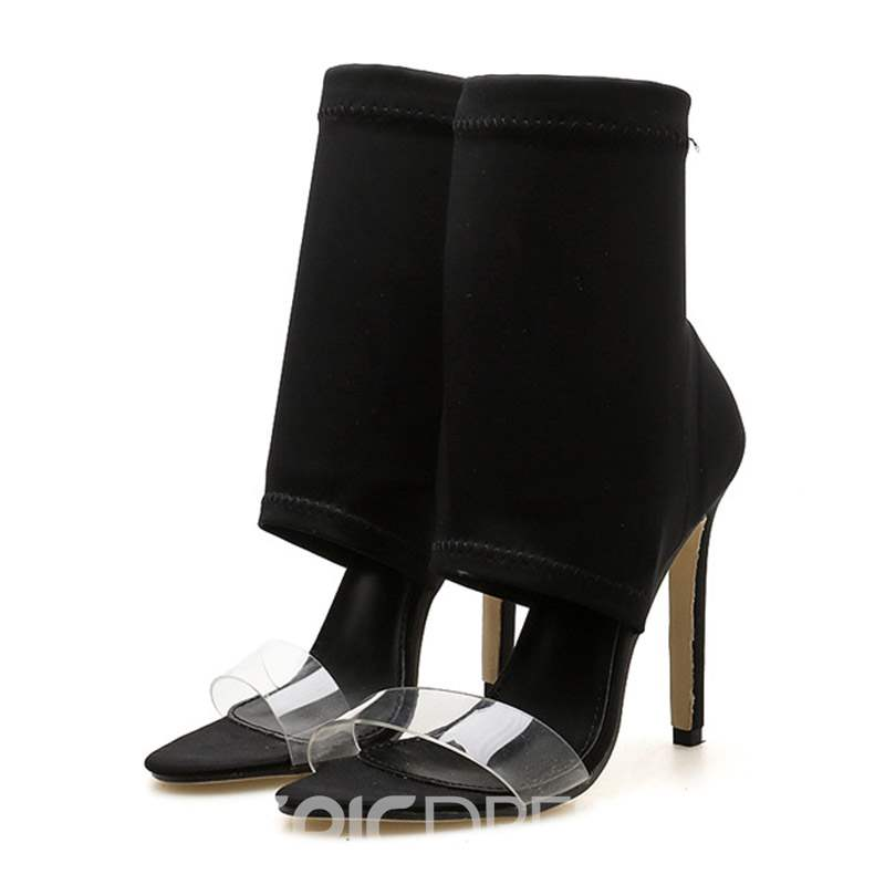 Ericdress PVC Stiletto Heel Heel Covering Women's Sandals