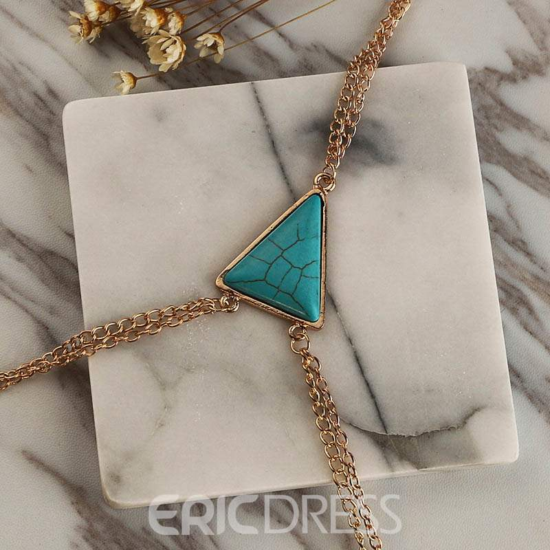 Ericdress Turquoise Body Chain Necklace