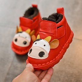 Ericdress PU Velcro Animal Toddler Shoes