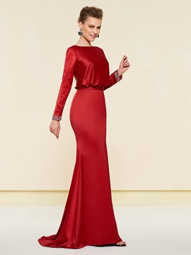 Ericdress Mermaid Long Sleeves Wedding Party Dress 2019