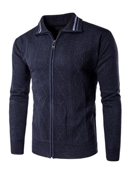 Ericdress Plain Lapel Mens Casual Cardigan Sweaters