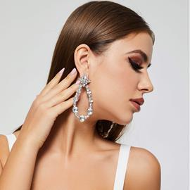 Ericdress Hoop Diamante Earrings For Women