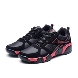 Ericdress PU Patchwork Round Toe Lace-Up Men's Sneakers