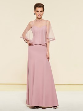 Ericdress Spaghetti Straps Sheath Mother of the Bride Dress