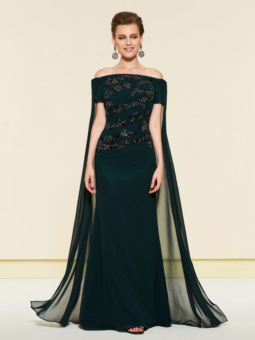 Ericdress Off-The-Shoulder Mermaid Mother of the Bride Dress 2019