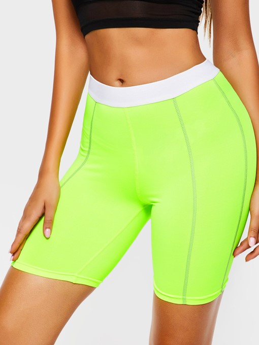 Ericdress Women Fluorescent Color Shorts Gym Sports Yoga Pants