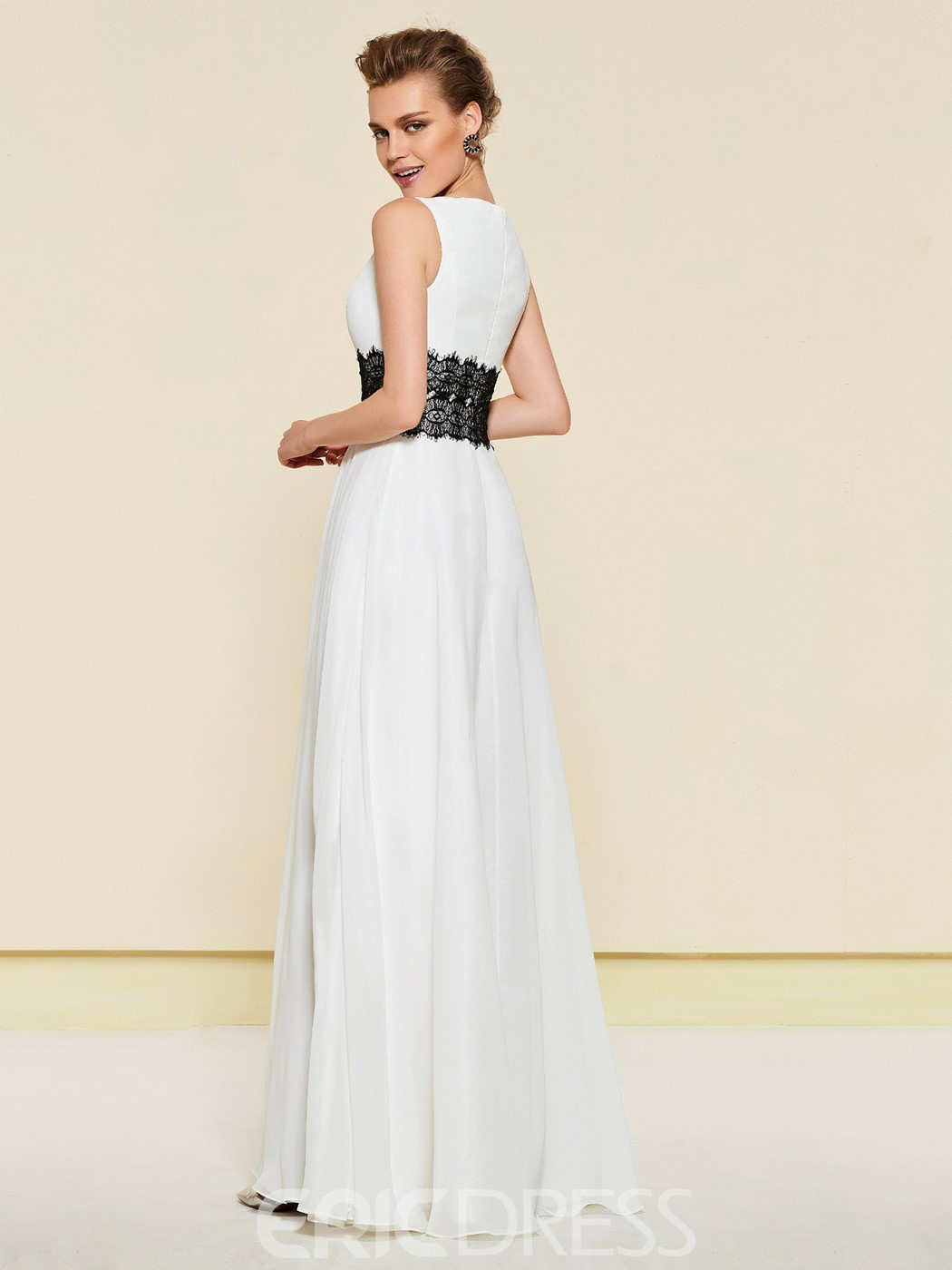 Ericdress A-Line Black And White Wedding Mother Dress