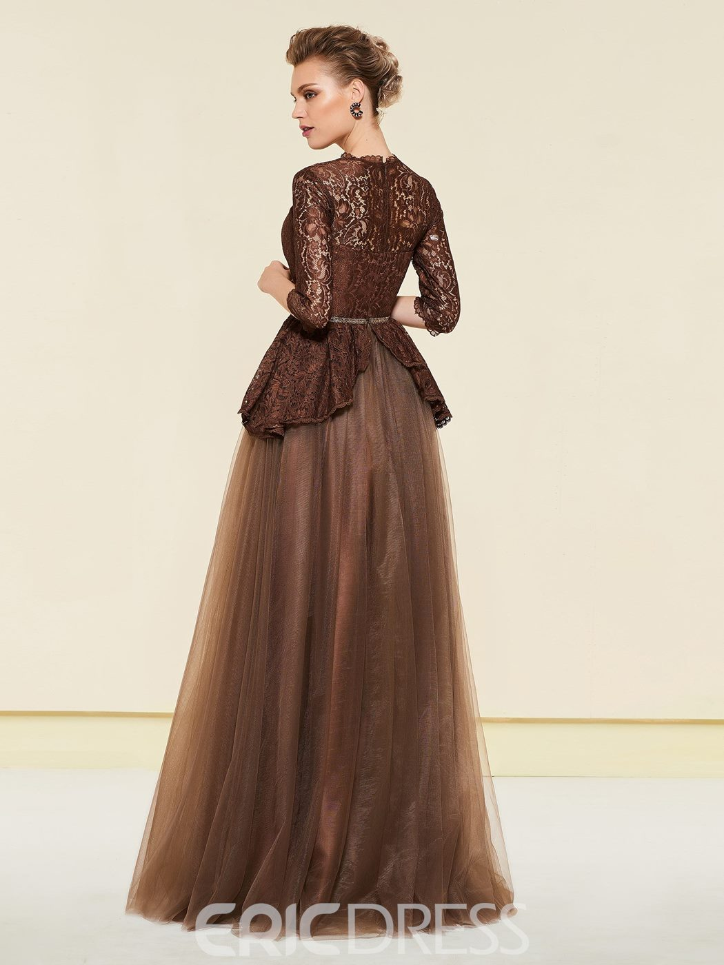 Ericdress Half Sleeves Lace Mother of the Bride Dress