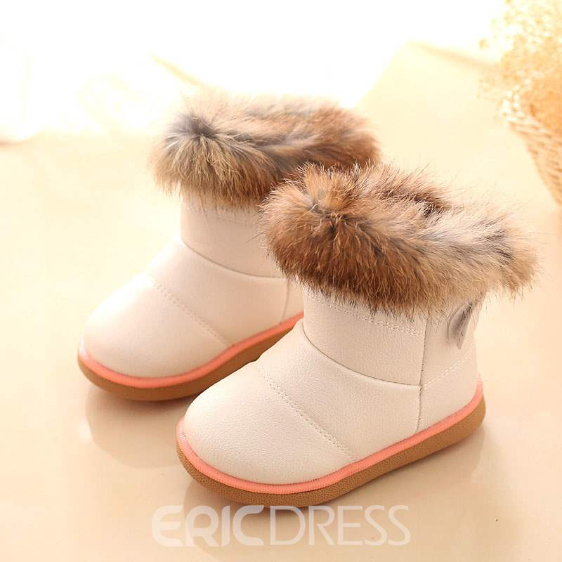Ericdress Faux Fur Round Toe Baby Boots