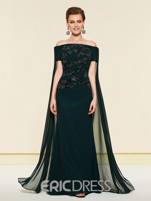 Ericdress Off-The-Shoulder Mermaid Mother of the Bride Dress