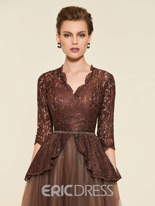 Ericdress Half Sleeves Lace Mother of the Bride Dress 2019
