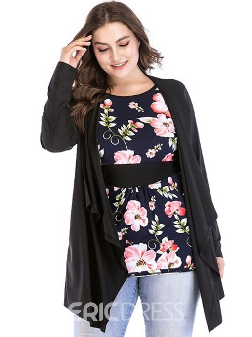Ericdress Asymmetric Floral Mid-Length Casual Blouse