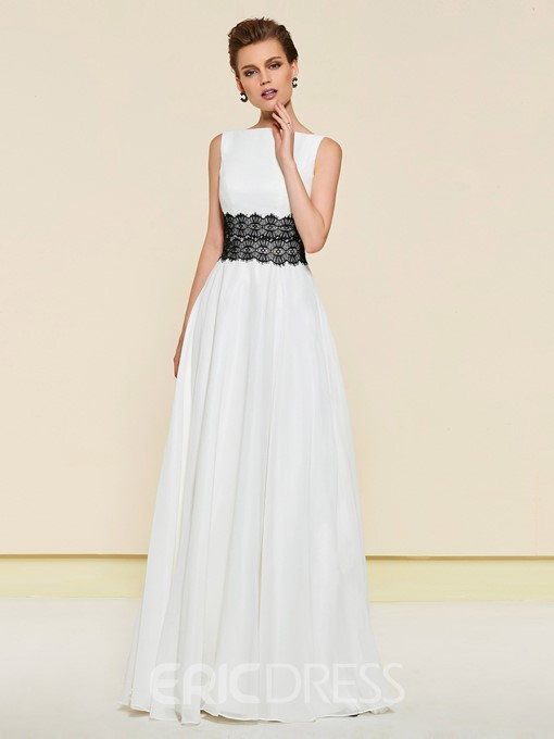 Ericdress A-Line Black And White Wedding Mother Dress 2019