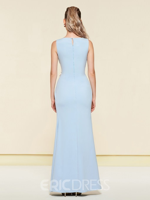 Ericdress Beading Sheath Evening Dress 2019 With Side Slit