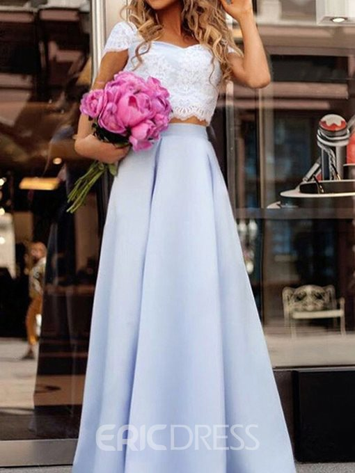 Floor-Length Square Sleeveless Evening Dress