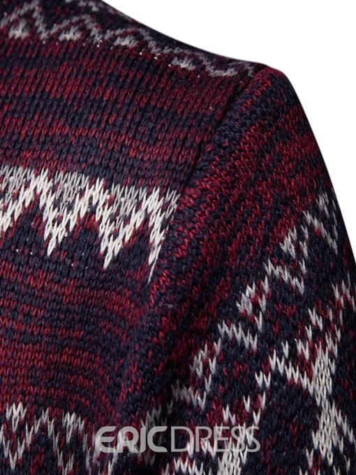 Ericdress Geometric Pattern Mens Casual Sweater