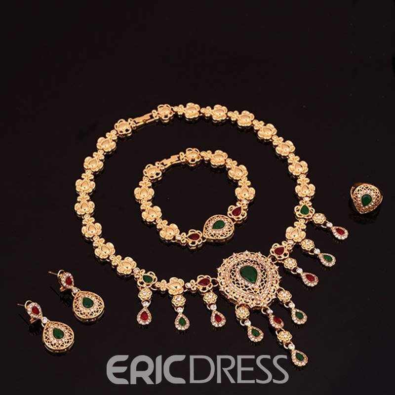 Ericdress Luxury Golden Diamante Jewelry Set