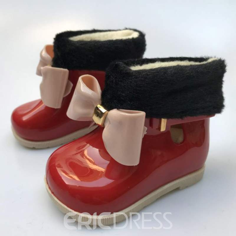 Ericdress PVC Bowknot Toddler Shoes