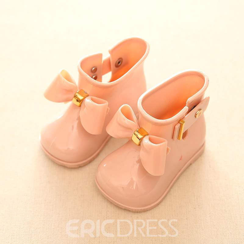 Ericdress Bowknot PVC Toddler Shoes