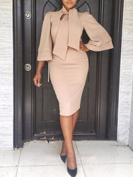 Ericdress Bodycon Knee-Length Office Lady Dress thumbnail