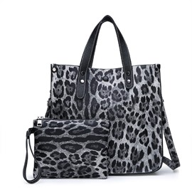 Ericdress PU Thread Leopard Barrel-Shaped Tote Bags