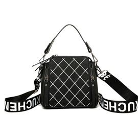 Ericdress PU Plaid Quilted Lining Rectangle Tote Bags