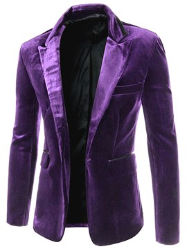 Ericdress Lapel Slim One Button Fit Men's Blazer