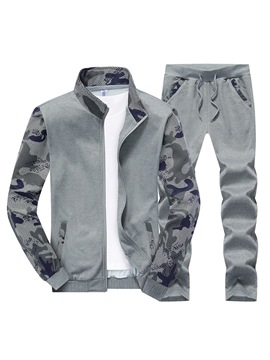 Ericdress Camouflage Patchwork Mens Casual Sports Outfit