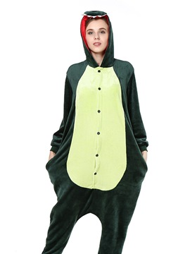 Ericdress Velvet Green Dinosaur Cartoon Animal Pajama One-Piece