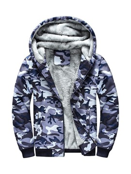 Ericdress Camouflage Printed Mens Casual Cardigan Hoodies