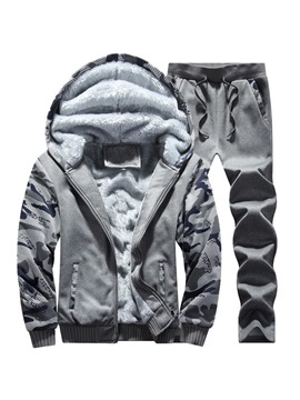Ericdress Patchwork Camouflage Mens Winter Sports Outfit