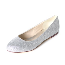Ericdress Block Heel Slip-On Round Toe Wedding Shoes