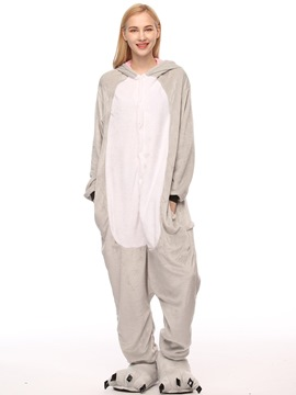 Ericdress Velvet Koala Cartoon Animal Pajama One-Piece