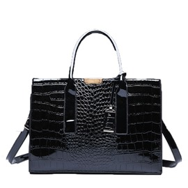 Ericdress Thread Alligator PU Square Tote Bags