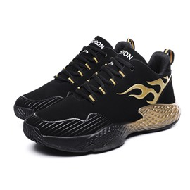 Ericdress PU Lace-Up Round Toe Men's Sneakers