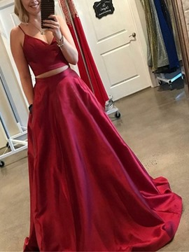 Ericdress A-Line Hollow Spaghetti Straps Prom Dress
