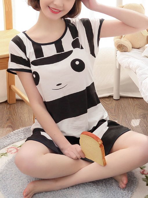 Ericdress Single Cartoon Short Sleeve Women's Nightgown