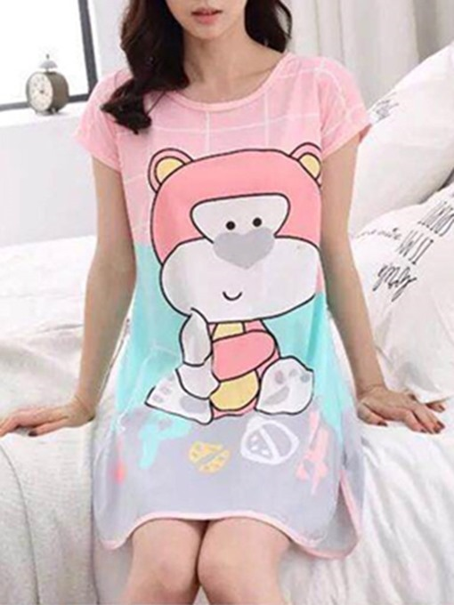 Ericdress Single Cartoon Above Knee Women's Nightgown