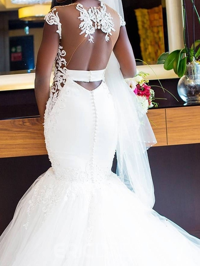 Ericdress Mermaid Off-The-Shoulder Wedding Dress