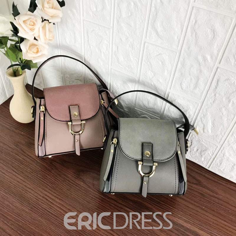 Ericdress Thread PU Plain Square Tote Bags