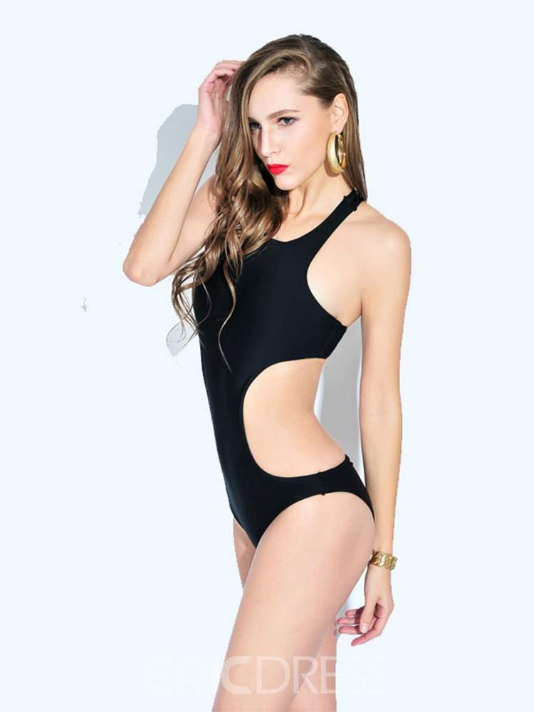 Ericdress Plain One Piece Backless Monokini